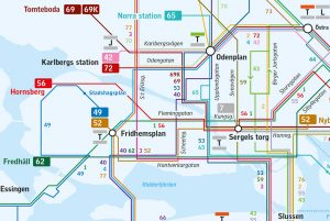 Getting Around Stockholm Routes North - Sweden bus map