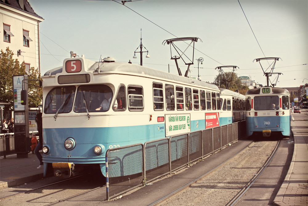 Trams make up a big part of public transport in Gothenburg
