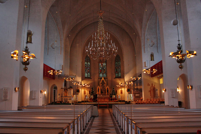 Inside Luleå Cathedral