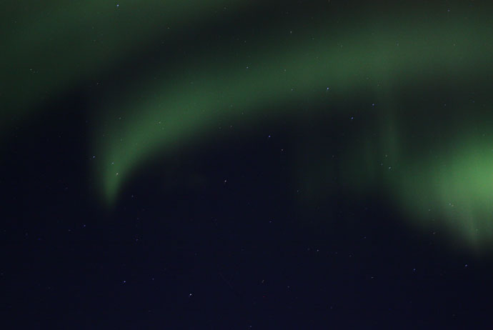 The northern lights in Abisko, Sweden