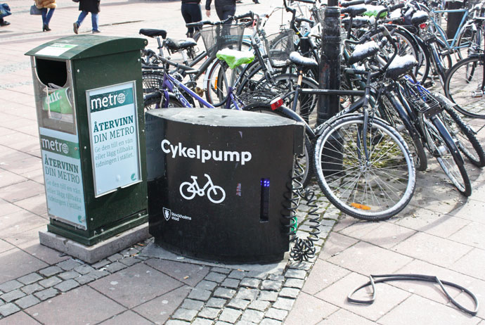 Bike pumps in Stockholm