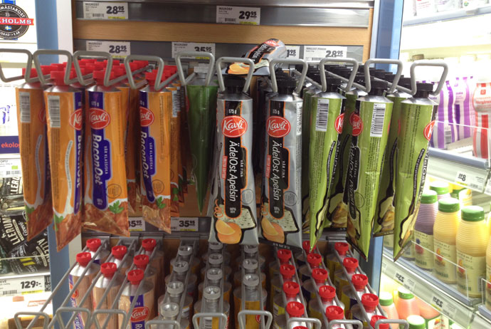 Food in tubes, Sweden