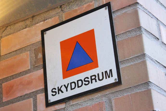 Skyddsrum shelters in Sweden