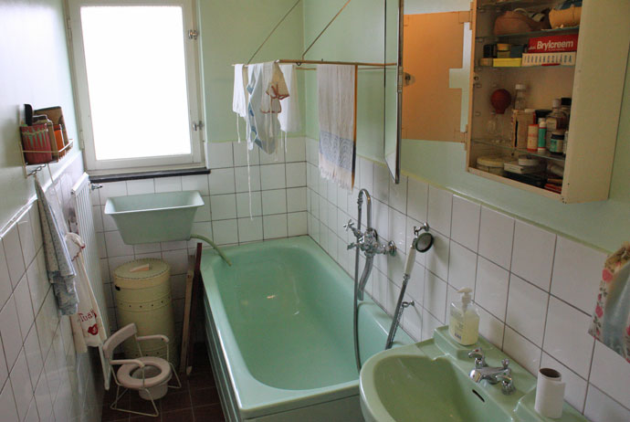 The bathroom at the 1950s museum in Gothenburg