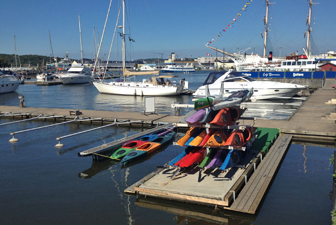 Renting a kayak is one of our ten unusual things to do in Gothenburg