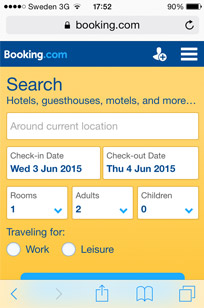 Sites like Booking.com have good mobile sites