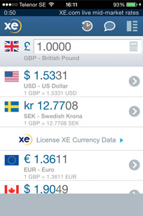 Currency converter app Sweden