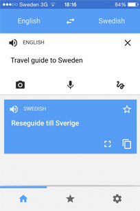 Google Translate works well in Swedish