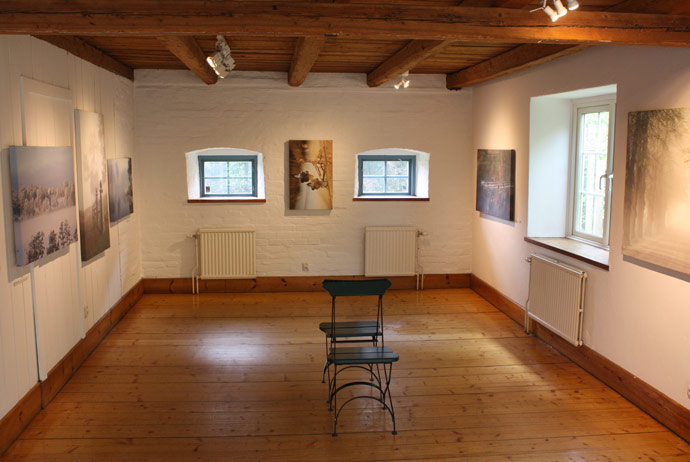 Art gallery at the manor called Nääs in Sweden