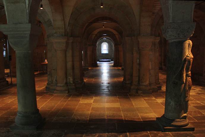 Inside the crypt at Lund Cathedral