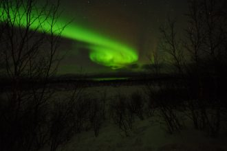 Northern lights over Swedish Lapland