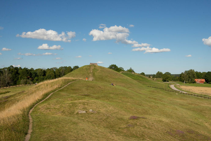 The burial mounds at Gamla Uppsala