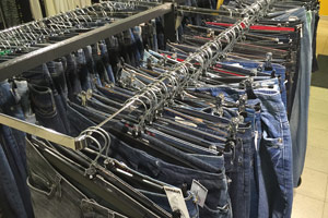 Feel-good jeans at this second-hand store in Stockholm