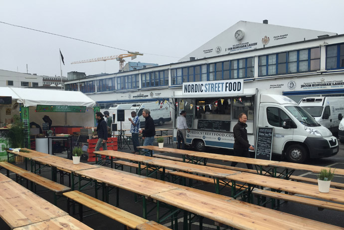 Food trucks in the Danish capital