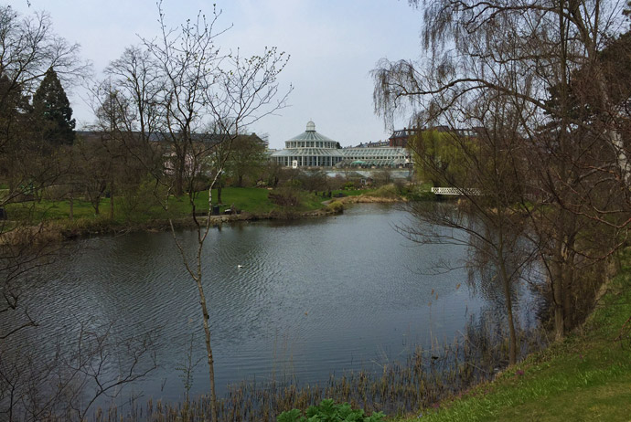 The botanical gardens in Copenhagen are free to visit