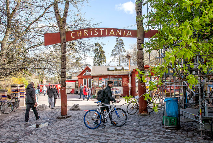 Christiania is a good place to chill out in Copenhagen