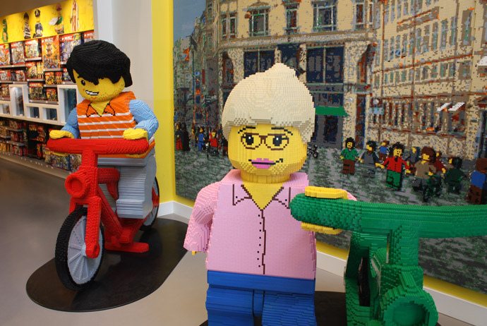 Its free to look around the Lego shop in Copenhagen
