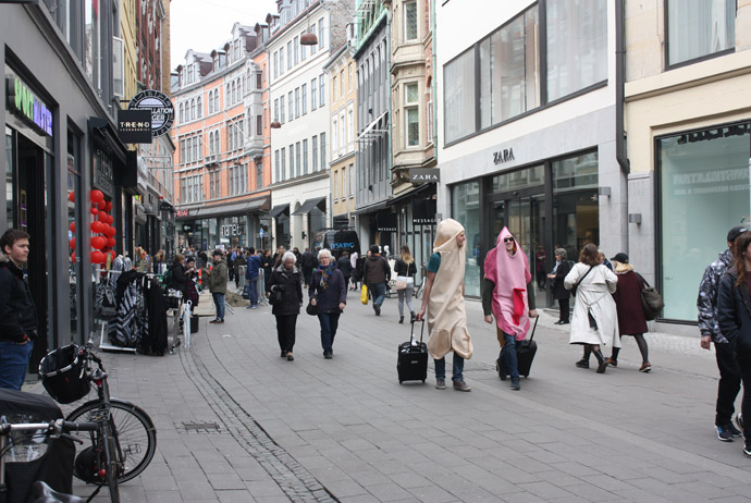 Out for a bit of shopping on Strøget