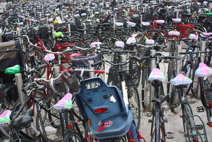 Bikes are the best way to get around Copenhagen on a budget