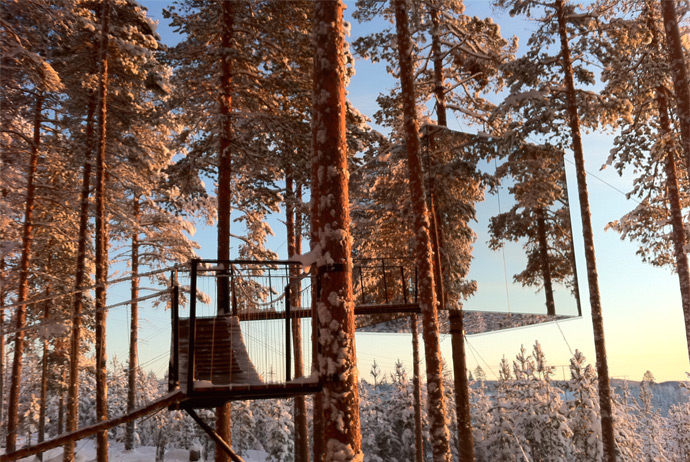 The Treehotel is one of the best known hotels in Sweden