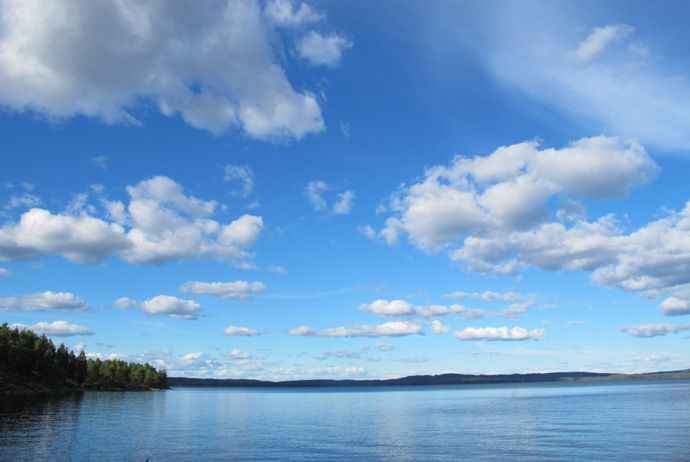 A lake in Glaskogen, Värmland, Sweden