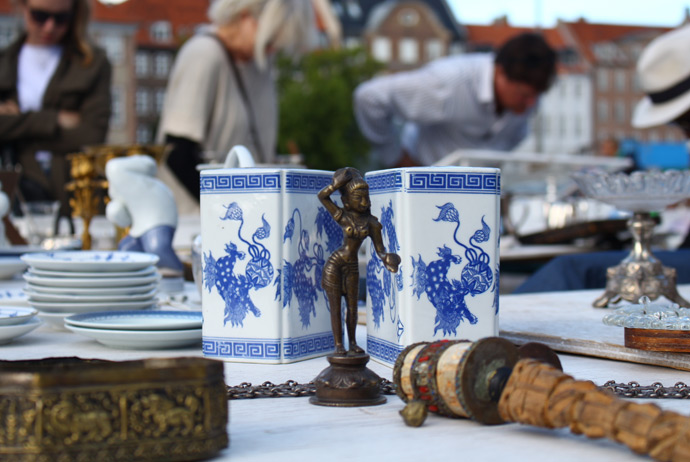 The Thorvaldsen antique market in Copenhagen, Denmark