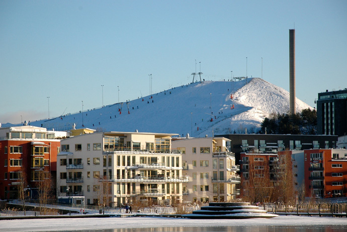 Hammarbybacken is a great place to ski in central Stockholm