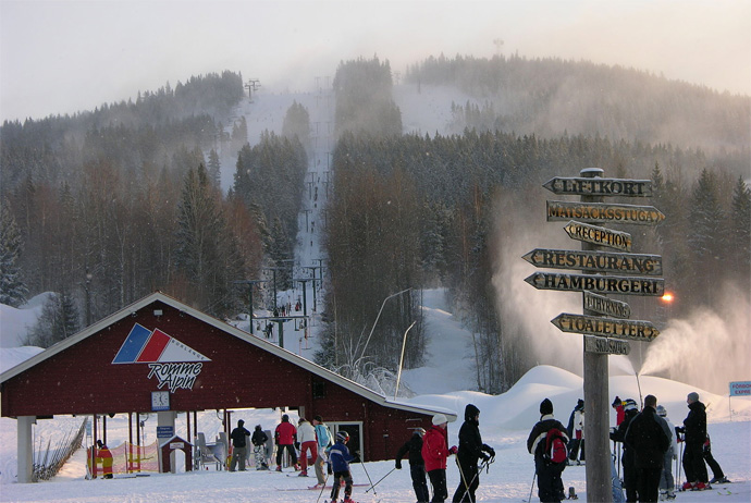 Romme Alpin skiing near Stockholm