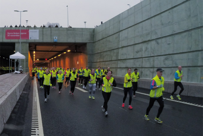 The tunnel run in Stockholm, Sweden