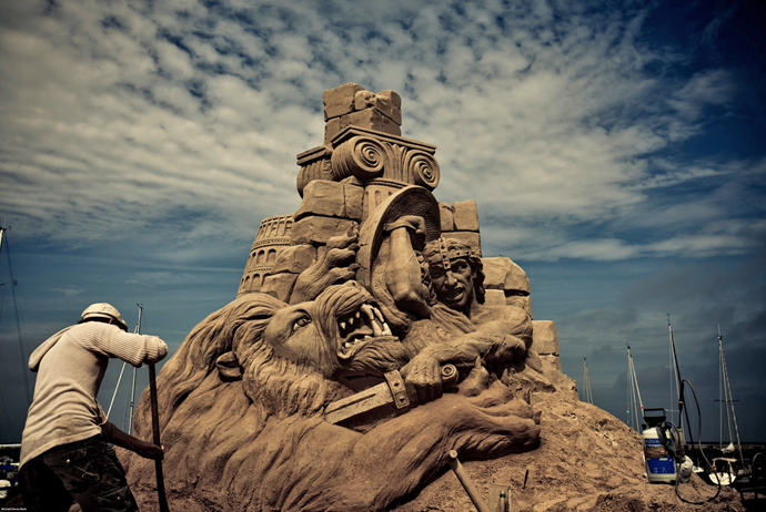 Sand Sculpture in Hundested, Denmark