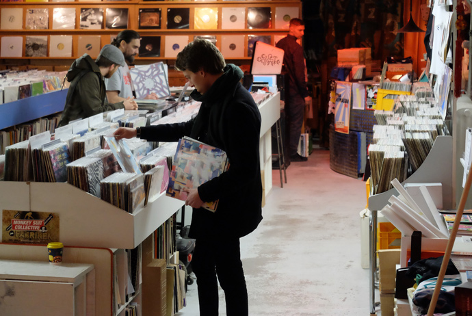 Snickars record shop in Stockholm
