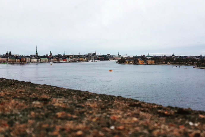 The view from Katarinavägen in Stockholm