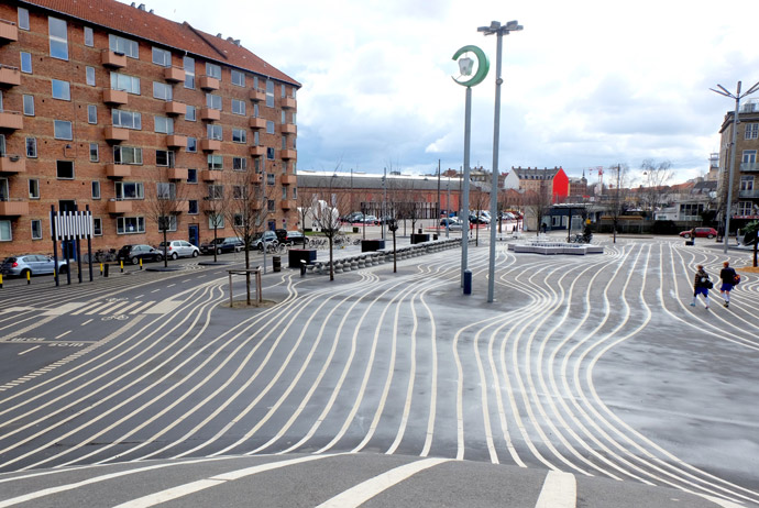 Superkilen is an unusual park in Copenhagen