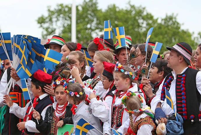 National Day celebrations at Skansen, Stockholm - Routes North