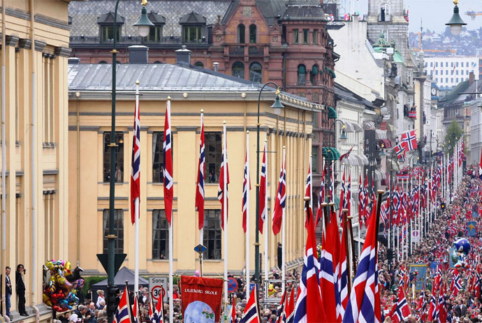 Join the free celebrations on 17 May in Oslo