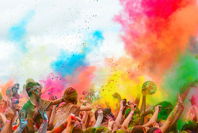 Stockholm's Color Obstacle Run is an unusual running event