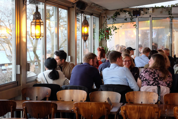 Hermans vegetarian restaurant in Stockholm