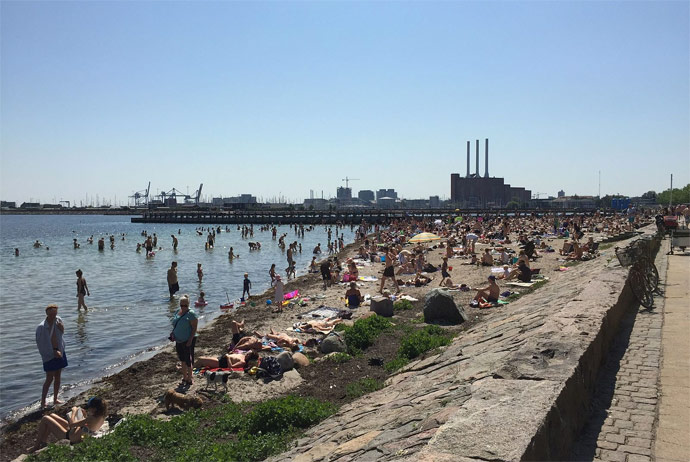 Svanemollestrand swimming beach in Copenhagen