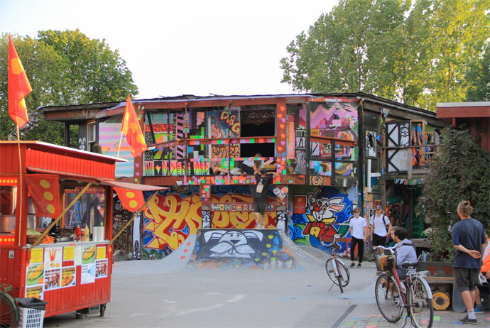 You can visit Christiania on a guided tour