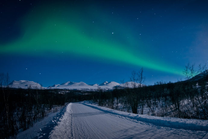 Seeing the northern lights in Abisko, Sweden