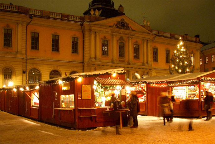 The Christmas market in Stockholm's Old Town