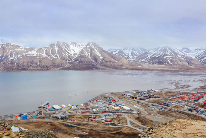 Longyearbyen from above