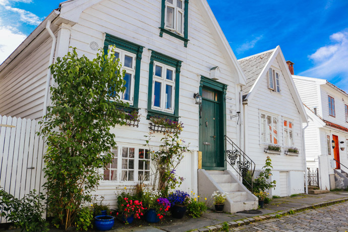 Stavanger's old town is home to lots of pretty buildings