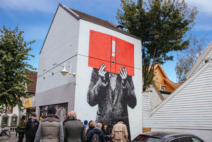 There's lots of street art in Stavanger