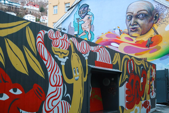 Street art is one of the best free things to do in Bergen