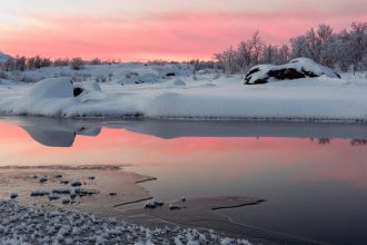 Landscape photography course in Swedish Lapland