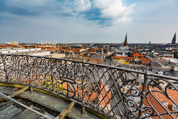 The view from the Rundetarn tower in Copenhagen