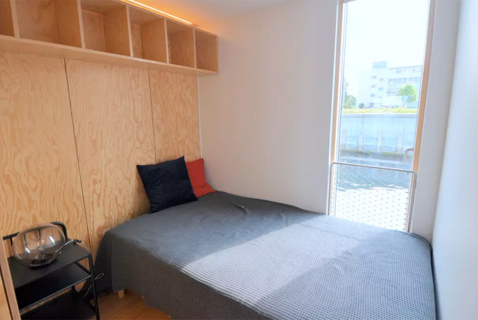 You can rent this waterfront apartment in Copenhagen through Airbnb