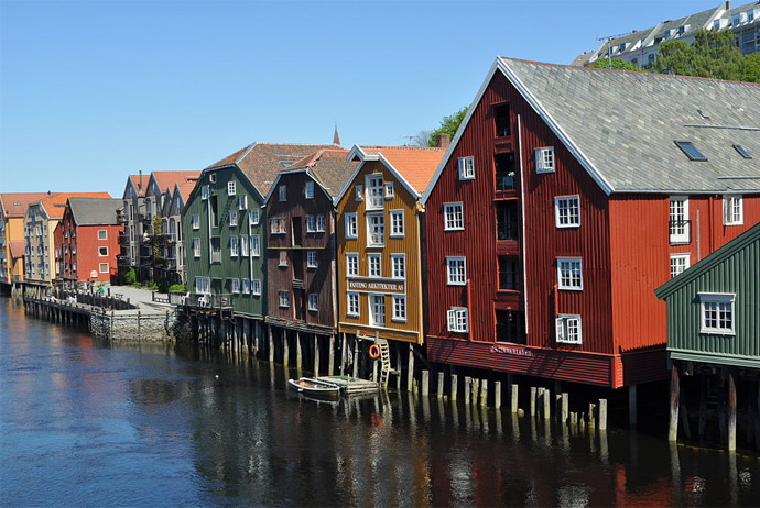 Bakklandet is a beautiful part of Trondheim to explore