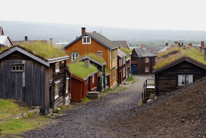 Wooden houses at one of Norway's most stunning national parks